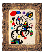 Joan Miro - 1962 Original Hand Signed Gouache Painting Modern Abstract Artwork