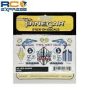 Pinecar Stick-On Decals Silver Shark PIN325