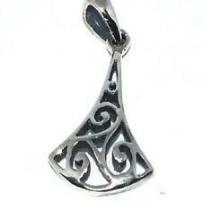 Sterling Silver Celtic Triskelion Pendant with Bell Shape