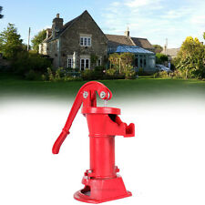 Hand Pump w/ Stand Cast Iron Well Water Pitcher Press Suction Yard Ponds Garden
