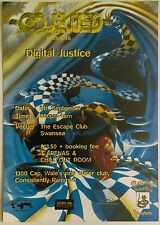 Obsessed ~ Digital Justice @ The Escape Club, Swansea, 05/09/97 Rave Flyer