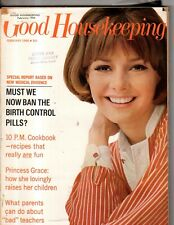 1966 Good Housekeeping February - How Princess Grace raises her children; Sealy
