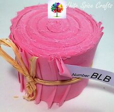 "20 X 2.5""x 45"" Pink Plain fabric Jelly Roll binding /edging BLB FREE POST AU"