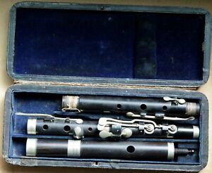 Cased antique English Flute ( For repair )