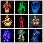 SUPERHERO The Avengers Marvel 3D Illusion LED Change Color Lamp DC Bulbing Light