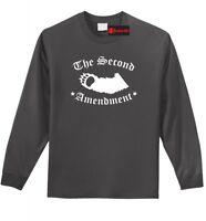 Second Amendment Bear Arms Funny LS T Shirt Gun Rights Animal Graphic Tee Z1
