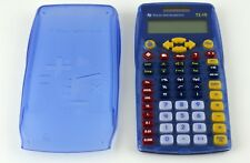 Texas Instruments TI-15 Explorer Calculator Transparent Blue With Cover Tested