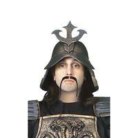 Adult Men's Hun Warrior Fu Manchu Moustache Costume Facial Hair Accessory Black