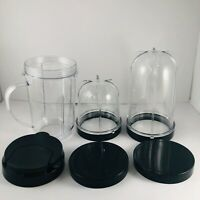 Magic Bullet Blender Replacement Parts Accessories Lot of Cups & Lids New