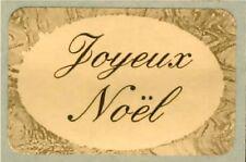 12 Etiquettes autocollantes stickers cadeaux fêtes  'Joyeux Noel' -  Ref L6