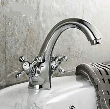 Polished Chrome Single Handle Bathroom Basin Hot /& Cold Faucet Mixer Taps 8cy013