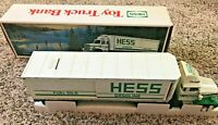 Rare 1987 HESS GASOLINE FUEL Oils 18 Wheeler Tractor Trailer Toy Bank Truck