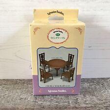 Sylvanian Families Epoch JAPAN JP la vie urbaine Table de salle à manger et chaises RARE Entièrement neuf dans sa boîte