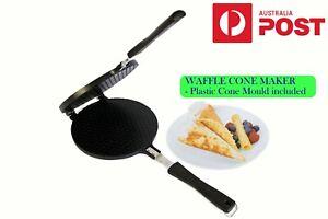 Waffle Cone Maker w/ Cone Mould 17cm Round NonElectric Kitchen Breakfast CROFTON