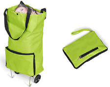 New Collapsible Folding Foldable Shopping Trolley Bag Fold As a Bag Light Cart