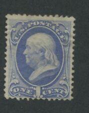 1870 US Stamp #145 Pale 1c Mint F/VF No Gum Perf 12. Catalogue Value $240