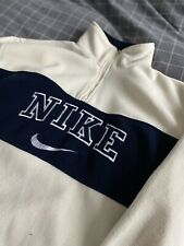 Vintage Nike Spell Out Sweatshirt FLEECE | RARE | White | Mens | Large