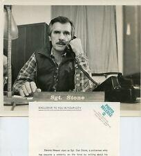 DENNIS WEAVER AT OFFICE ON PHONE DESK STONE TV SHOW ORIGINAL 1980 ABC TV PHOTO