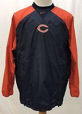Chicago Bears NFL Blue/Orange Pullover Windbreaker Jacket Nike Men's Large
