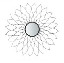 NEW Safavieh Ravin 35-inch Champagne Sunburst Framed Wall Mirror Mounted Floral