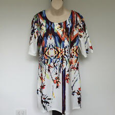 'WHISPERS' EC SIZE 'M' MULTI GRADUATING PRINT DRESS WITH LONG SHORT SLEEVES