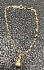 Tiffany & Co. Peretti 18k Yellow Gold  Teardrop Charm Chain Bracelet