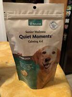 NaturVet Senior Wellness Quiet Moments Calming Aid for Dogs + Melatonin 65 Chews