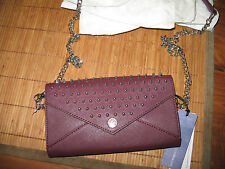 NWT Rebecca Minkoff Smith Studded Crossbody/ Wallet  PORT