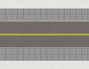 S Scale Roads Model Train Scenery Sheets No Passing Yellow City - Five 8.5x11