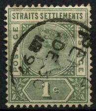 Straits Settlements 1892-9 SG#95, 1c Green QV Used #D46737