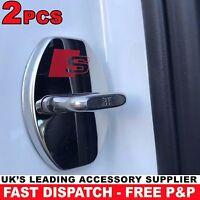 2x Door Lock Cover Chrome Buckle Sticker fits Audi RS A S 1 3 4 5 6 7 Q TT Sline