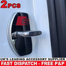 X2 Audi S Line Door Lock Cover Chrome Buckle RS QUATTRO A1 2 3 4 5 6 7 8 Sticker