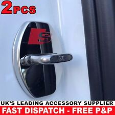 2pcs Audi S Line Door Lock Cover Chrome Buckle A1 A3 A4 A5 A6 A7 S1 S3 S4 TT S5