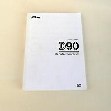 Manual de camara digital reflex Nikon D90-Aleman