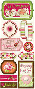 EGG STRAVAGANZA Easter Scrapbook Stickers