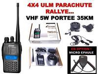 VHF 5W PORTEE 35KM! RAID 4X4 BATEAU NAUTISME ULM PARAPENTE RALLYE SECURITE SKI