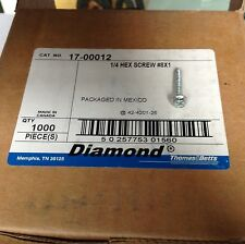1000 Thomas And Betts Phillips Screws, 1/4 X 1 Inch Hex Screw 17-00012