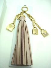 NWT Michael Kors Key Tassel Charm Mercer Locks Leather Purse Tassel Gold Tone