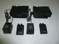 Two Motorola Minitor Iv 33-36.9 Mhz Low Band Fire Ems Pagers w Amp Chargers