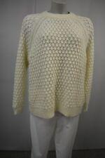 H&M Damen Strick Pullover Eur. S Creme Locker Schnitt  TOP