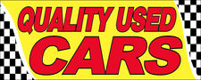 Quality Used Cars Vinyl Banner 3x10 ft Auto Shop Sign - yb