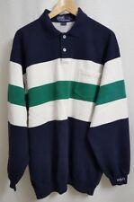 🔥 VTG POLO Ralph Lauren Color Block Sweatshirt sz LARGE | POLO Spell Out     R7