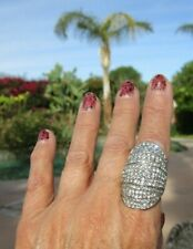 Rhinestone knuckle ring size 7  6.6 bling sparkle!