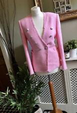 ZARA Pink Tweed Jacket Blazer with Buttons XS 4 6 BNWT 2695/845