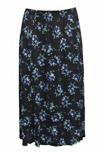Below Knee Viscose Floral Skirts for Women