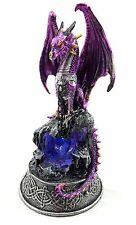 Gothic Dragon Light Up Crystals Chained LED Statue Figurine Sculpture BIG 24 cm