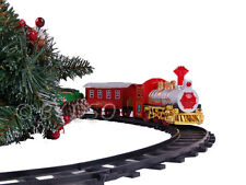 Christmas Train Set With Realistic Sound and 3 Cargo Carriages Under Your Tree