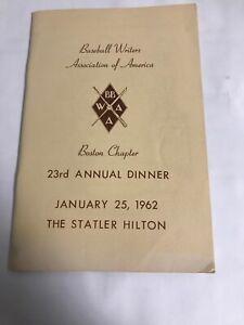 1962 Baseball Writes Program Ted Williams/Maris 61 HR/J. Robinson/Yastrzemski