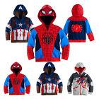 GB Spiderman Captain America Bébé Garçon Filles Enfant Veste À Capuche