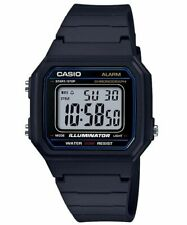 Casio W217H-1AV, Chronograph Watch, Black Resin Band, Alarm, Illuminator